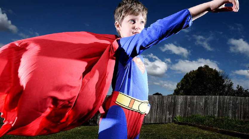 MAN OF STEEL: Riley Greaves, 9, of Lismore, will raise funds to fight muscular dystrophy.