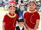 DAY OUT: Darshana Dotel (11), Darsham Dotel (5) and Monika Lama (12). PICTURED LEFT: Mohammad, Kaniz, Komeil and Jasmine Azad.