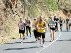 TOUGH RUN: Competitors make their way up Mount Archer during Saturday's Challenge the Mountain 2015.