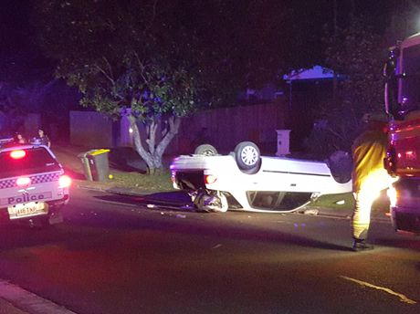 Residents in a suburban Mooloolaba street were shocked to find a car had rolled on their stret on Monday night. The driver and passengers escaped on foot before emergency services arrived at the scene.