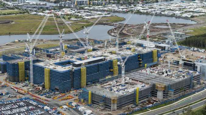 Aerial photos of the Sunshine Coast Public University Hospital Photo Steve Ryan