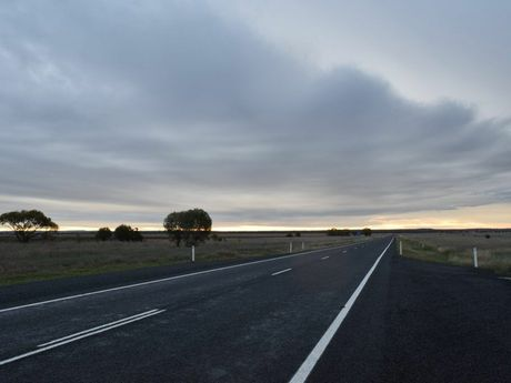 Warrego Highway at dusk. Photo Derek Barry / Surat Basin News