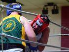 Andrew O'Toole works Sean Raines on the ropes. Photo Keagan Elder / South Burnett Times