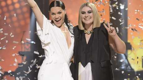The Voice Australia winner Ellie Drennan pictured with coach Jessie J.