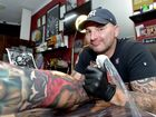 Damien Wickham is holding a tattoo convention on the Susnshine Coast with artists from all over the world attending. Photo: Warren Lynam / Sunshine Coast Daily