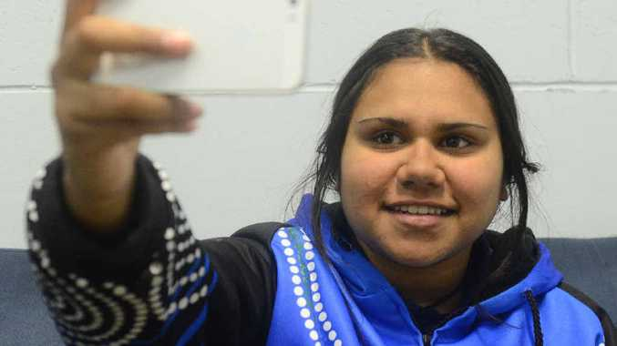 MAKING A DIFFERENCE: With the help of her mobile phone, Grafton High student Latia Williams has shared her thoughts on bullying with the world. Photo: Clair Morton