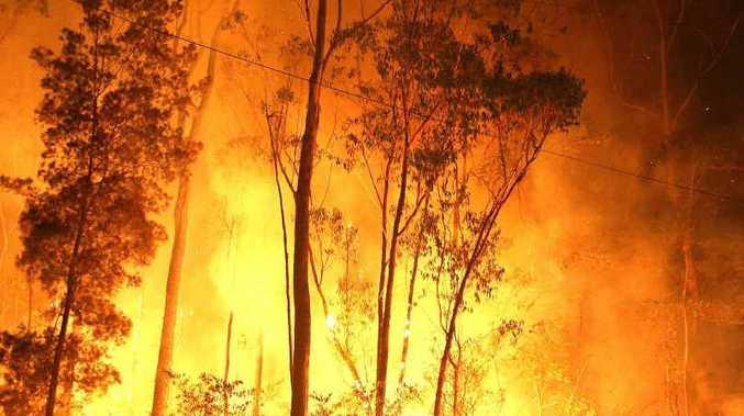 DANGER PERIOD: Fire crews battled a monstrous blaze at Halfway Creek last year.