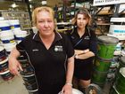 HELP: Maryborough's Earles Paint owner Melissa White and employee Belinda Earle are unhappy with the location of the flood wall because their business won't be protected.