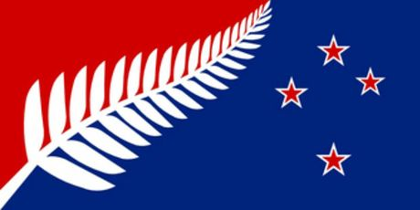 Silver Fern (Red, White and Blue) - by Kyle Lockwood