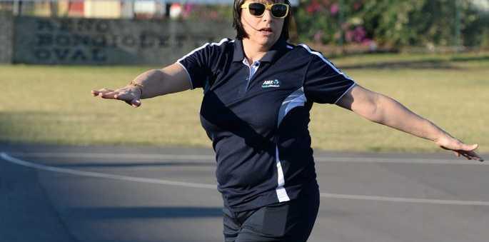 Australia netball coach Lisa Alexander's coaching the Brothers juniors. Photo: Mike Knott / NewsMail