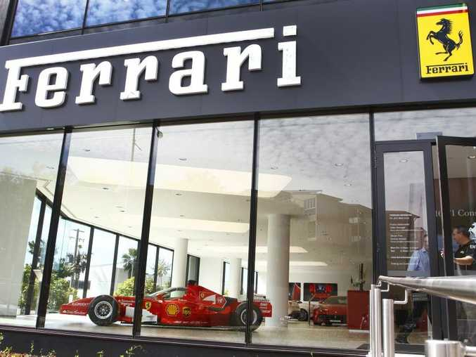 The Ferrari showroom in Brisbane