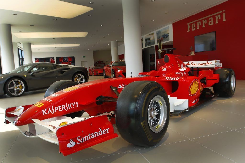 Michael Schumacher-era 2006 Ferrari F1 show car at the new Ferrari Brisbane dealership the day of its grand opening. Photo: Iain Curry / Sunshine Coast Daily