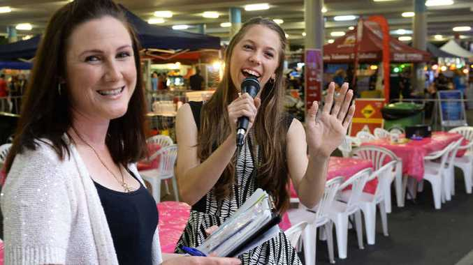 SHARE YOUR TALENT: Patty Hitchenor from Just Singing at Silkstone will be one of the judges at the Oz Night Market Got Talent event to be held in September and October at Booval Fair. Madeline Beutel (right) will compete for the title.