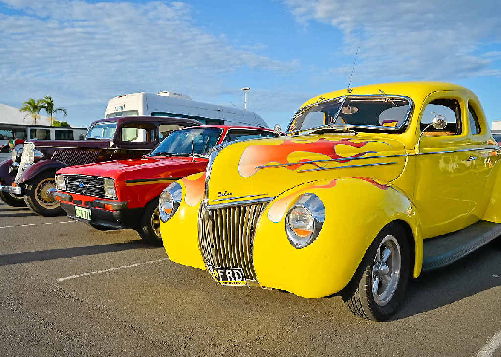 HAPPY BIRTHDAY: Gladstone Old School Car Show almost a year ago on December 20, 2014, at the Gladstone Square.