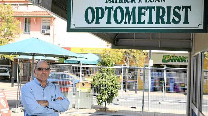 Patrick Egan of Eyewise has his say on how the roadworks on the main street in Murwillumbah will affect his business. Photo: Nolan Verheij-Full / Tweed Daily News