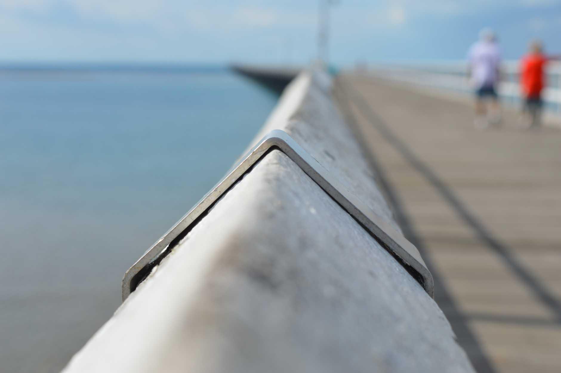 Taking in the Urangan Pier. Photo: Megan Mackander