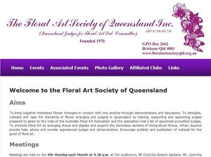 Floral Art Society annual show on October 10-11