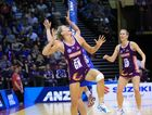 Laura Geitz (GK) and Clare McMeniman (GD) will combine for the Firebirds in Sunday's ANZ Championships grand final. Photo Netball Queensland