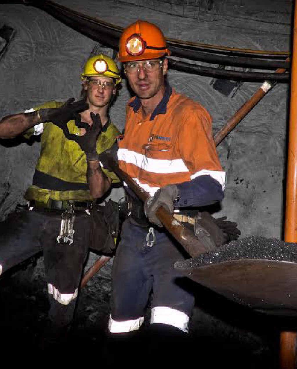 THUMBS UP: Kinnect employees enjoying work on site.
