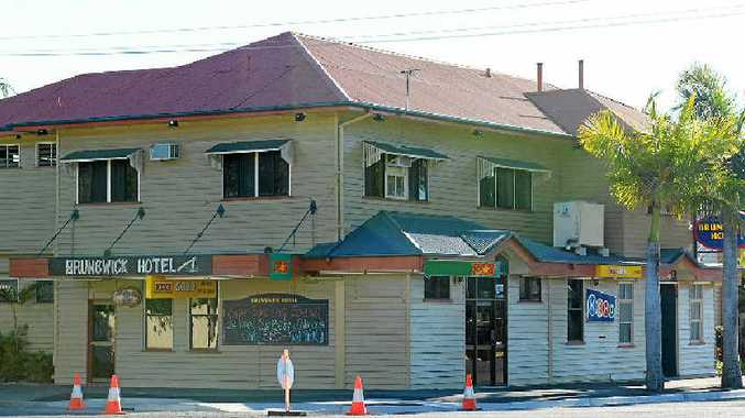 CAUGHT: The Brunswick Hotel, a few days after a man was robbed there on July 18, 2014.