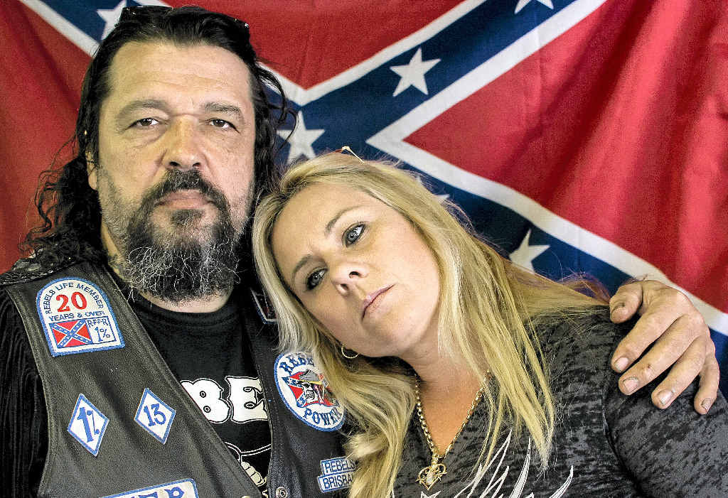 "Rebels Motorcycle Club member ""Little'' Mick Kosenko and his wife Tracey have faced social isolation since VLAD was invoked."