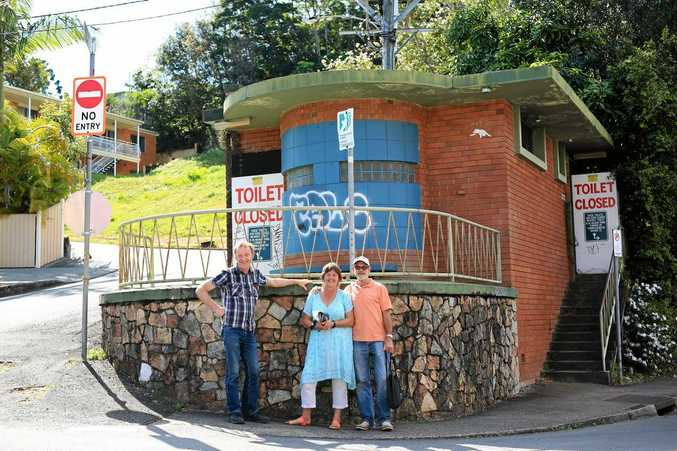 Nick and Meredith Denis and John Stretton want to see the old Murwillumbah toilet block used as a working toilet again. But many people have other ideas.