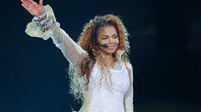 Janet Jackson on stage on first night of Unbreakable World Tour