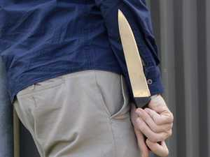 Man seen smiling after knifing neighbour