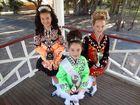 AWARDED: Irish dancers Madisson Paul, 13, Keava Brennan, 10, and Alyssa Bremner, 10, score big at the Queensland Irish Dancing State Championships 2015. Photo Louise Starkey / Daily Mercury