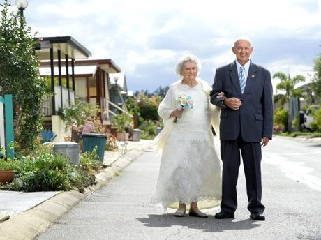 George and Ailsa Wells celebrate their 60th wedding anniversary.