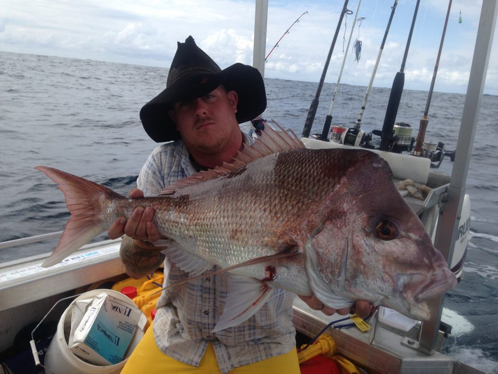Luke Wyatt was over the moon landing a snapper off theWide Bay Bar over the weekend.