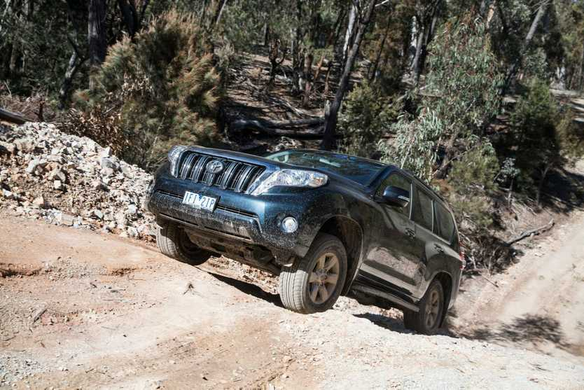 LET'S OFF-ROAD: Toyota Land Cruiser Club's Willowglen facility used to test the new Prado in its element.