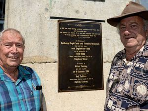 Sad chapter of Fitzroy River Barrage etched in bronze
