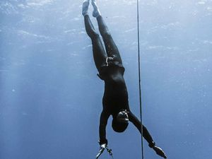 Freedivers make slow descent into the deep blue