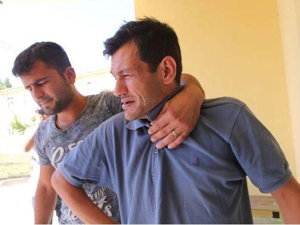 Abdullah al-Kurdi, pictured right, tells of losing his whole family