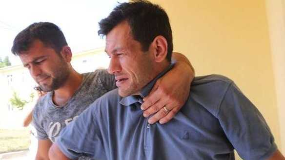 Abdullah al-Kurdi, pictured right, tells of losing his whole family