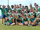 PROUD: Reserve Grade winners Whitsunday Brahmas celebrate their victory.