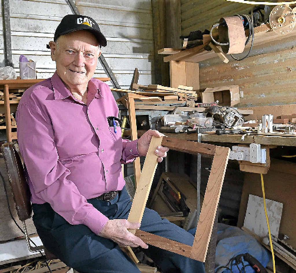 David Keir still enjoys working as a furniture maker