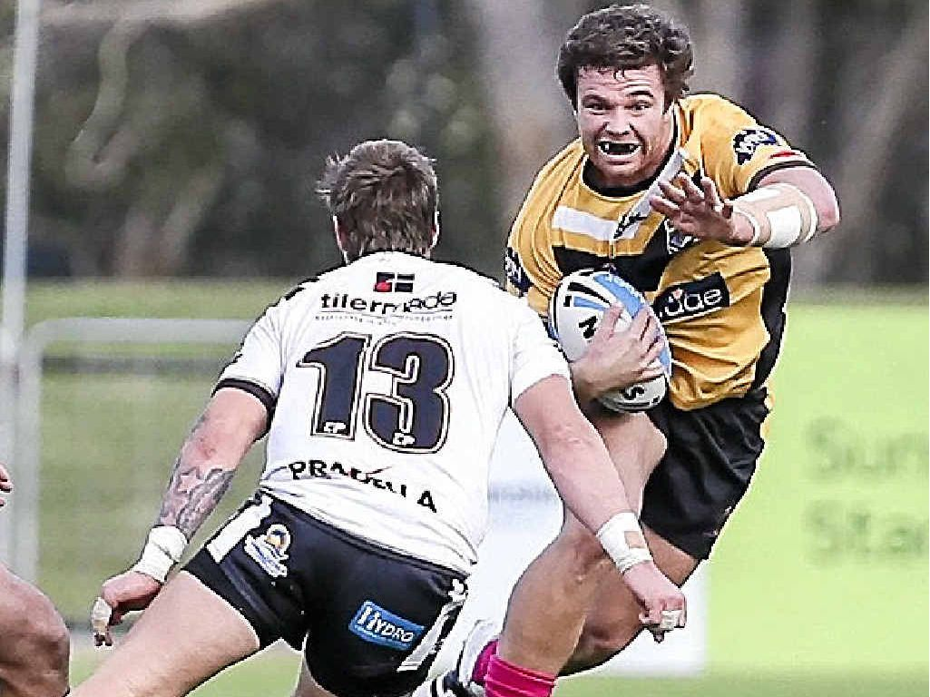 WELL-RESPECTED: James Ackerman in full-flight attack for the Sunshine Coast Falcons.