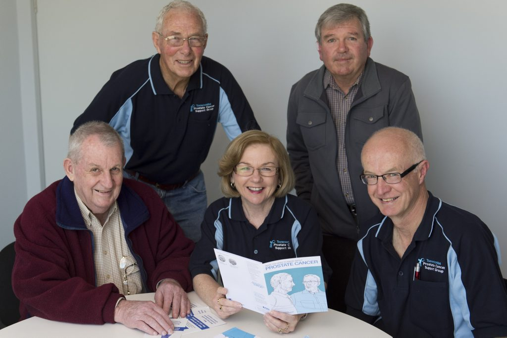 Toowoomba Prostate Cancer Support Group members (from left) Keith Simpson, George Malcolmson, Maureen Meiklejohn, Mike Berry and Doug Meiklejohn.