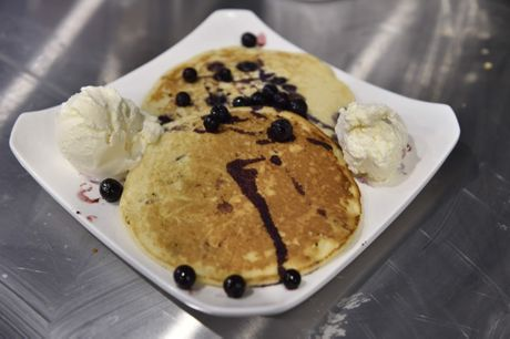 PANCAKE DELIGHTS: Sugar Maples in Ruthven Street offers yummy pancakes.