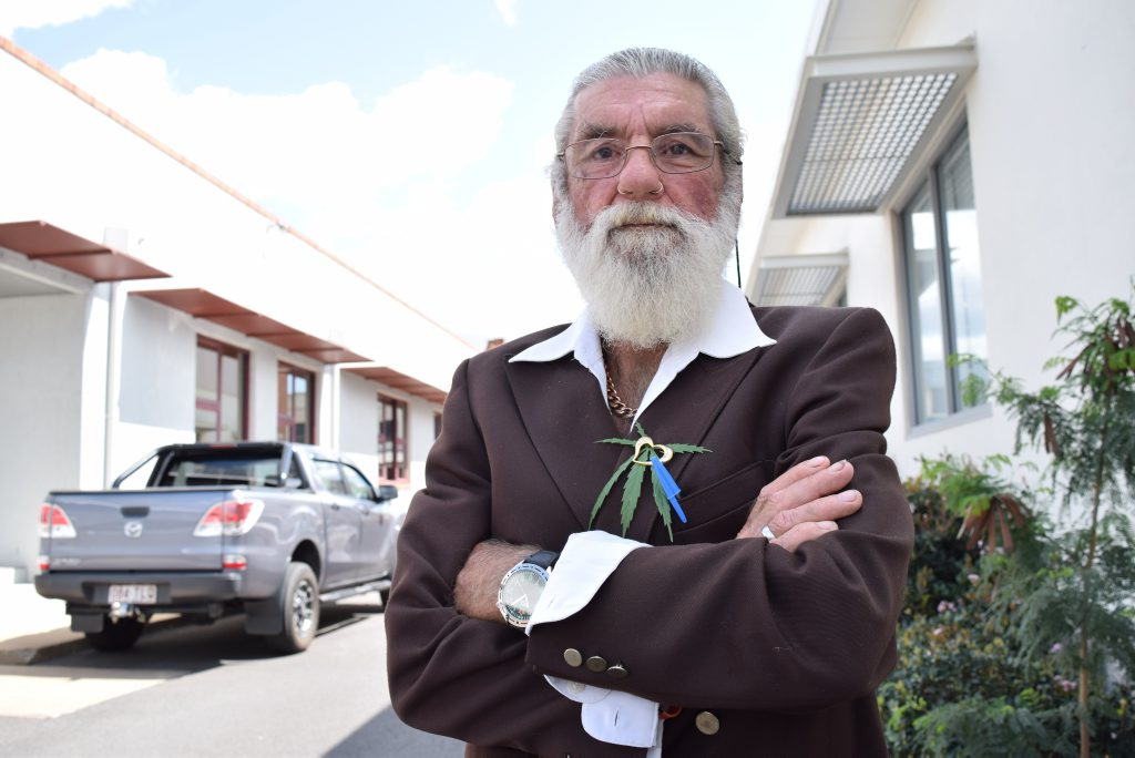 TO BE BLUNT: Maryborough's Gordon Skippen was sentenced to a four month suspended sentence for possessing cannabis, but he says he will continue to self medicate to ease the pain of his terminal liver cancer.