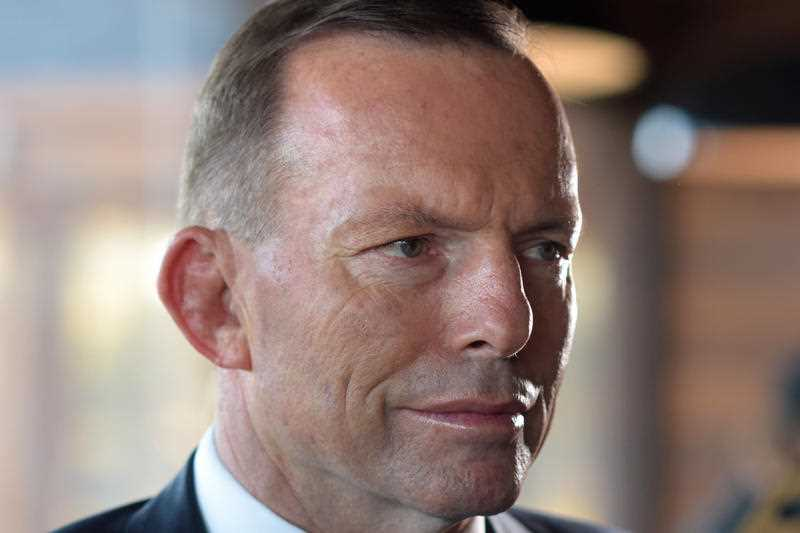 Prime Minister Tony Abbott attends a small business breakfast in Canberra, Monday, Sep. 7, 2015.
