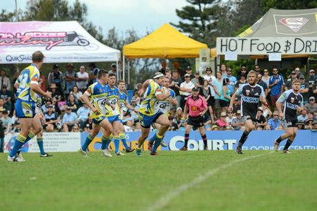 Shane Kight makes a run for Murwillumbah in the NRRRL grand final.