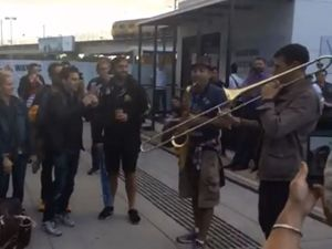 WATCH: Musicians make most of Brisbane Airport evacuation