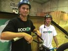 Jaidyn Gowley and Dylan Gronow share their passion for scooter riding.