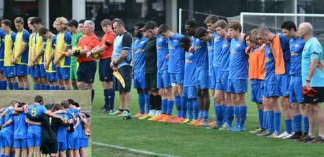 Football teams pay their respects for Lachlan Percy.