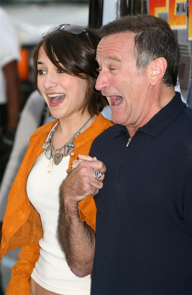 Zelda Williams with her dad Robin in happier times.
