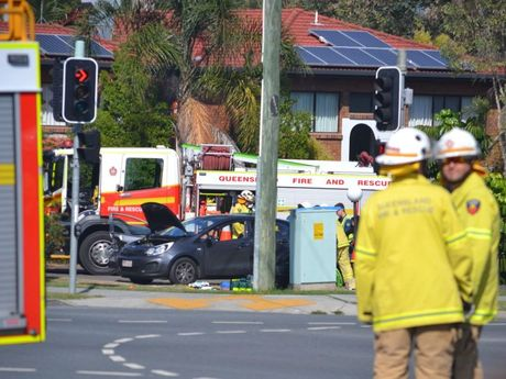 A DRIVER allegedly crashed into numerous cars at an intersection on Warwick Rd and drove off. Photo Contributed
