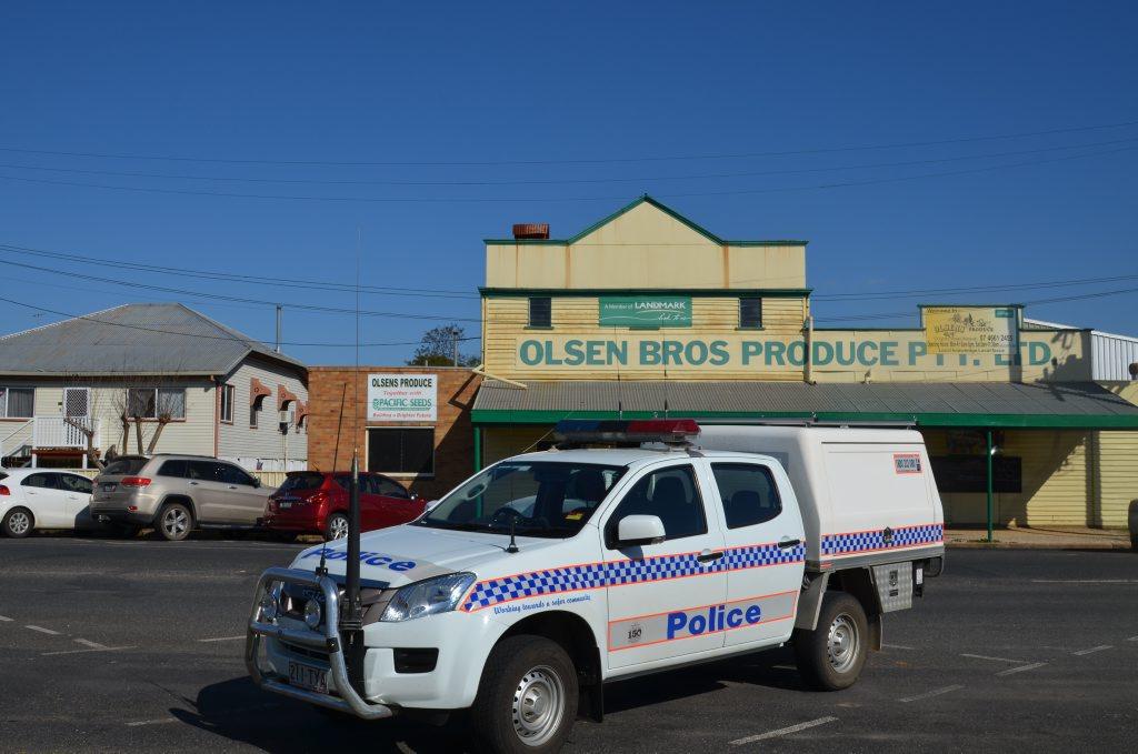 Police responded to a break in at Olsen Bros Produce.